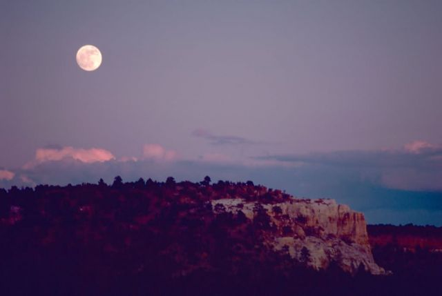 Moon Over El Morro National Monument Picture