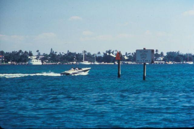 Boat Speeding thru Manatee idle zone Picture