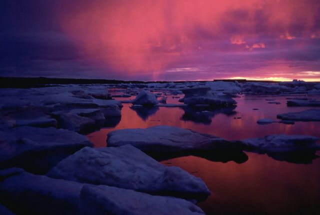 WO3029 Hudson Bay Sunset , Canada Picture