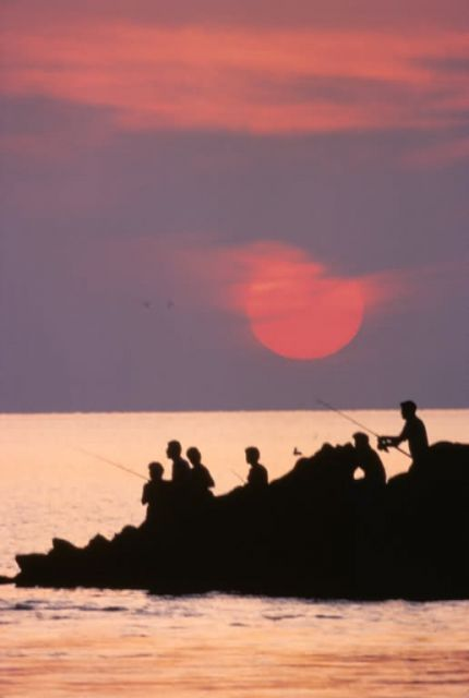 WO 3510 Fishing at Sunset Picture