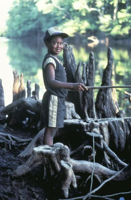 WO 4074 Contentment (Boy Fishing) Picture