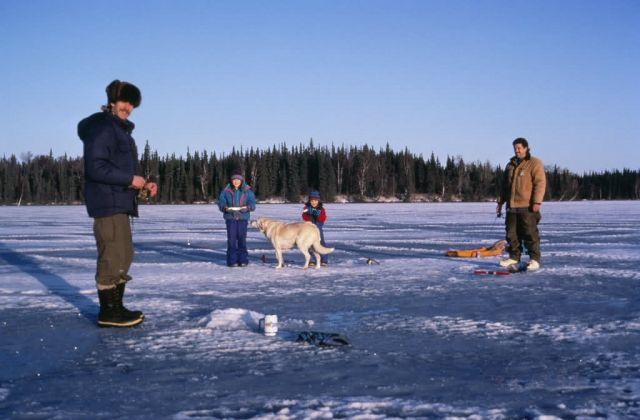 WO 5502 Ice Fishing Kenai NWR Picture