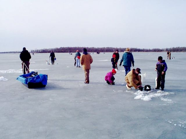 Fishing on ice, Waubay National Wildlife Refuge Picture