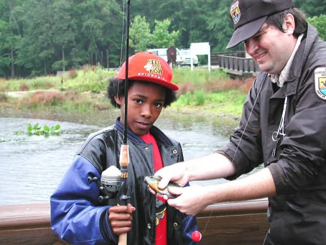 Youth enjoy fishing opportunities provided by FWS at Patuxent Wildlife Research Refuge Picture