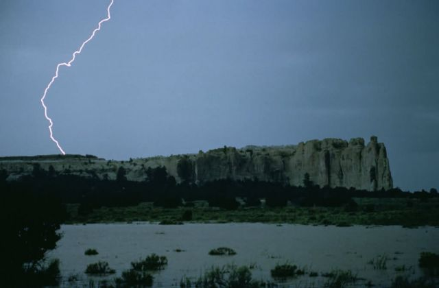 WO8064 Flood at EL Morro Nat'l Monument Picture