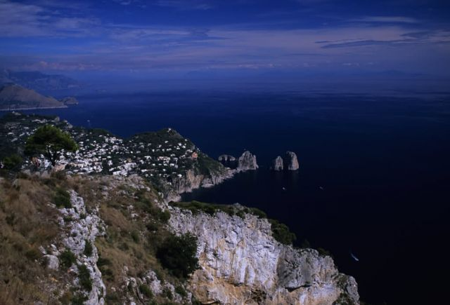 Aerial view of Capri Island Picture