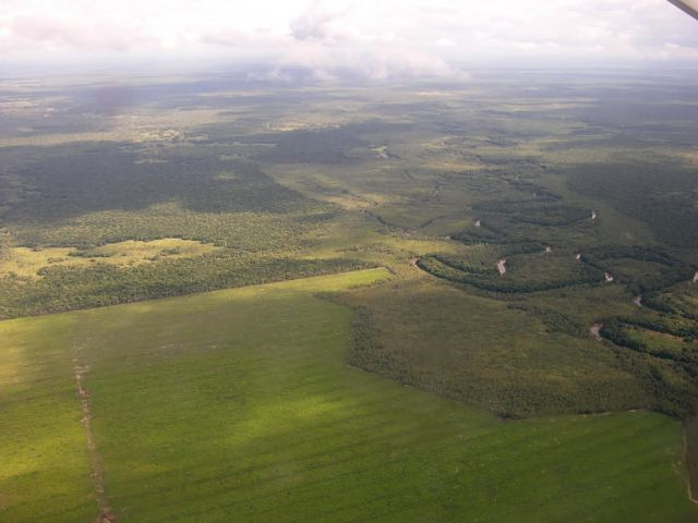 Meandering River in Complex Landscape in Northern Paraguay Picture