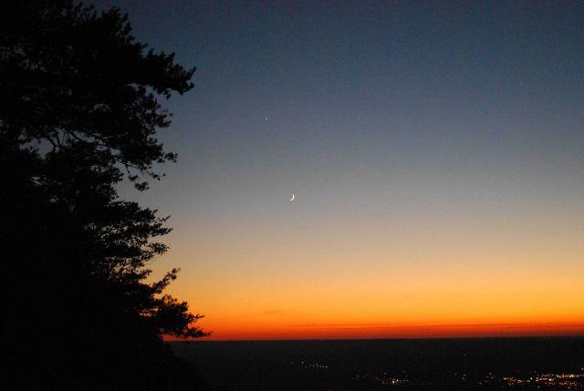 Moon and Venus Trenton, Georgia Picture