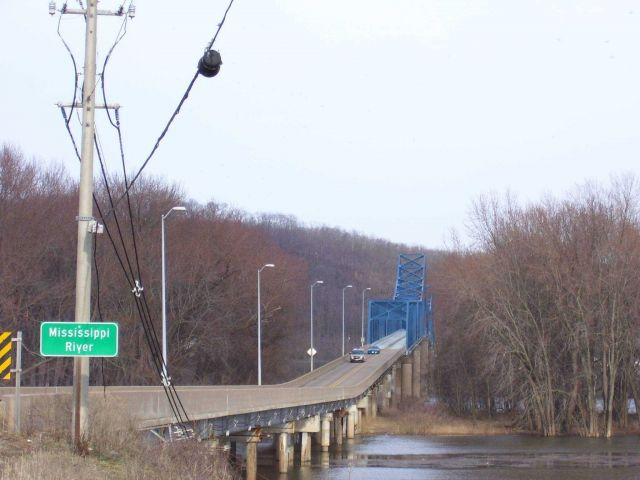 An early spring view of the bridge over the Mississippi River on U.S Picture