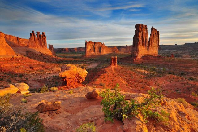 Courthouse Towers at Arches National Park Picture
