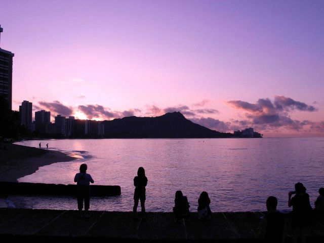 Diamondhead at sunrise, New Year's Day, 2011. Picture