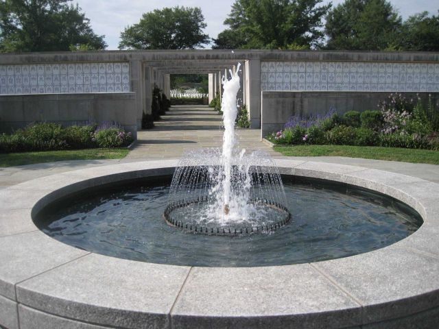 A fountain in the Columbarium of Arlington National Cemetery. Picture