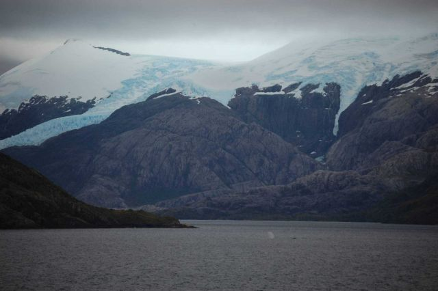 Glaciers, humpback whales and stark bare rock accentuate the grandeur of the Strait of Magellan. Picture