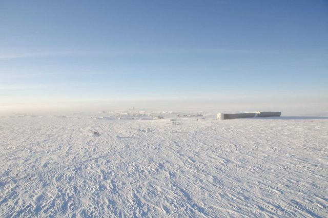 South Pole station seen from the air. Picture
