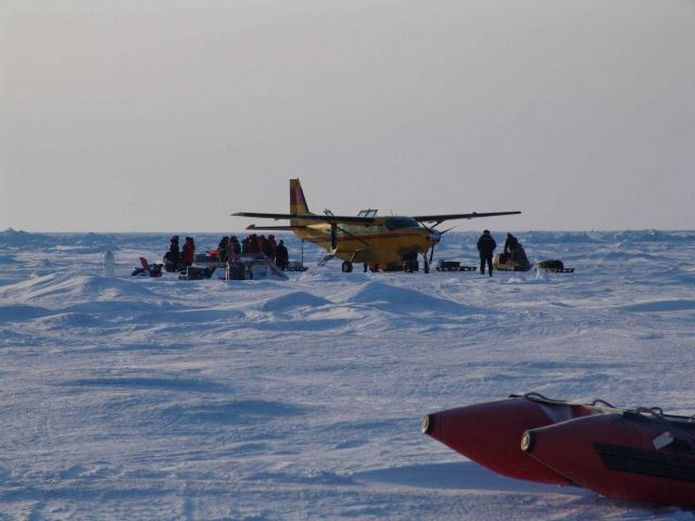 Unloading gear for scientific studies of ice Picture