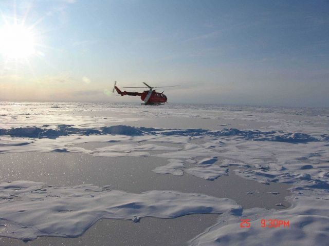 Helicopter from the Canadian Coast Garde icebreaker LOUIS S Picture