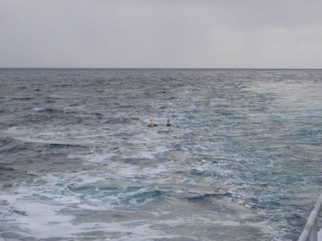 Deploying an instrumented buoy in open water Picture
