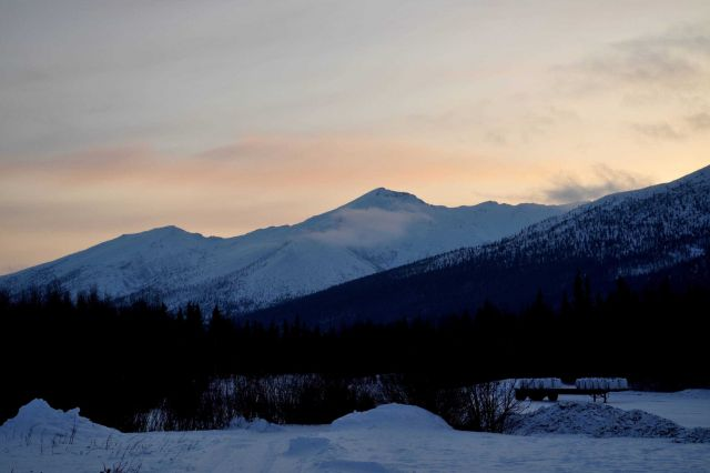 A sunset along the Dalton Highway. Picture
