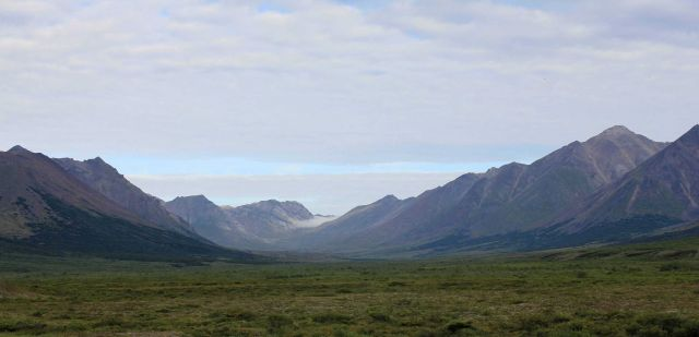 A valley in the Kigluiak Mountains on the Seward Peninsula. Picture