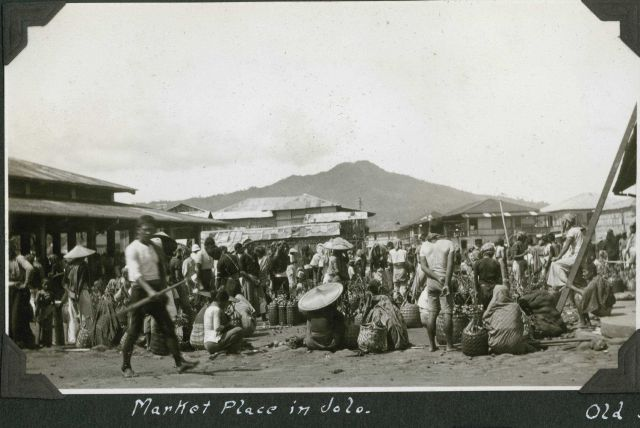 The market place in Jolo. Picture