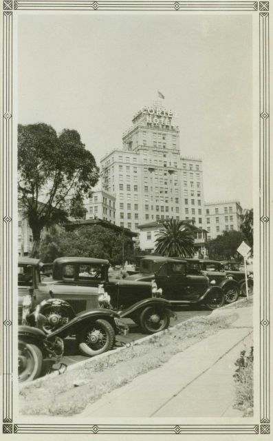A triangulation station was located on the top of El Cortez Hotel, a familiar San Diego landmark that was built in 1927 Picture