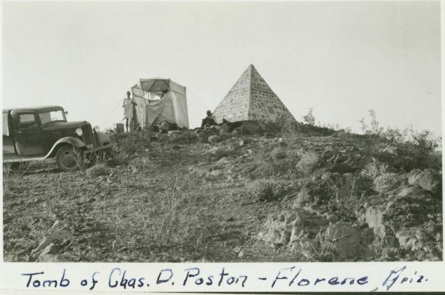 Observing party at Station Posten which is located on Poston Butte Picture