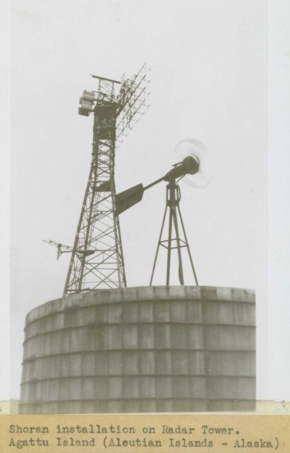 Shoran installation on radar tower on Agattu Island Picture