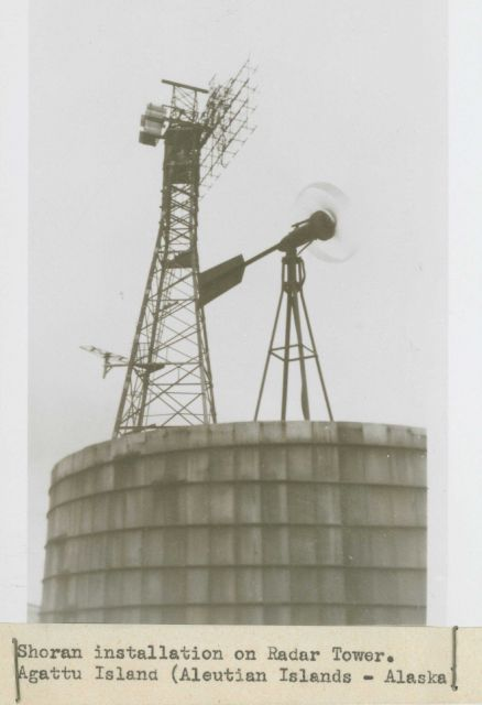 Shoran installation on radar tower Picture