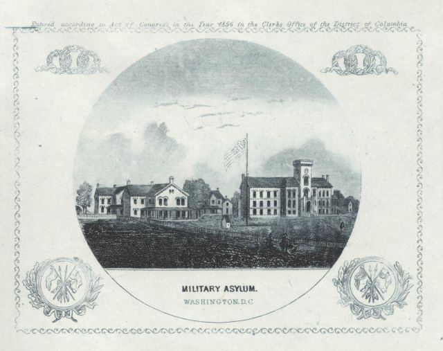 Engraving of the Military Asylum by Albert Boschke of the Coast Survey Picture