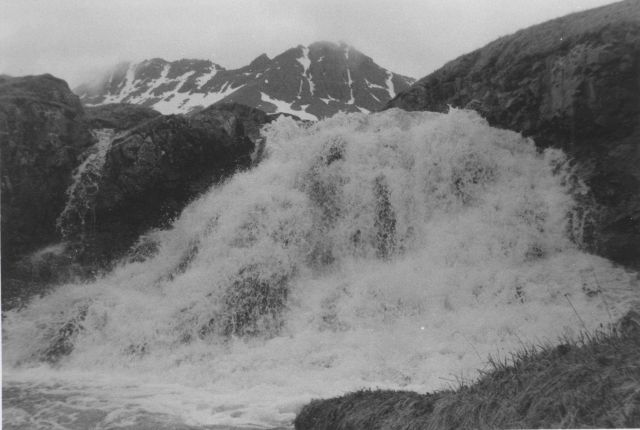A nameless waterfall somewhere in the Aleutian Islands. Picture