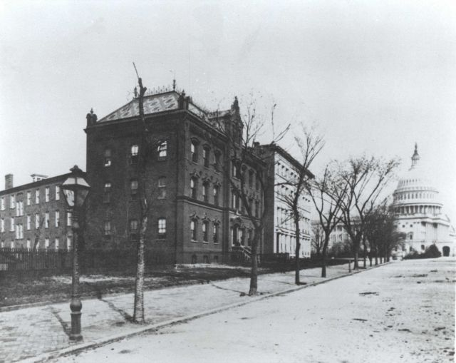 Coast and Geodetic Survey headquarters on New Jersey Avenue with Capitol Building on right. Picture