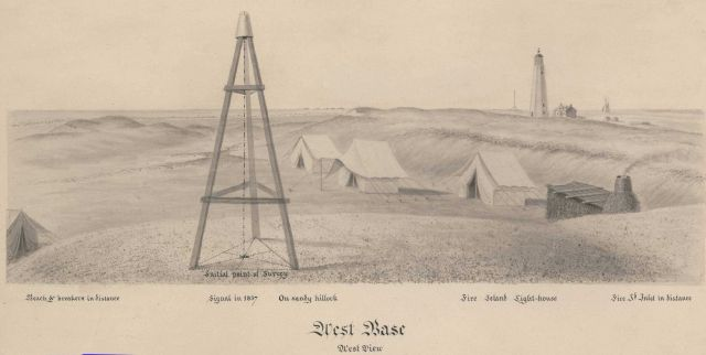 Fire Island West Base Signal, considered initial point of survey by Ferdinand Hassler, as all triangles observed by Hassler were ultimately tied into  Picture