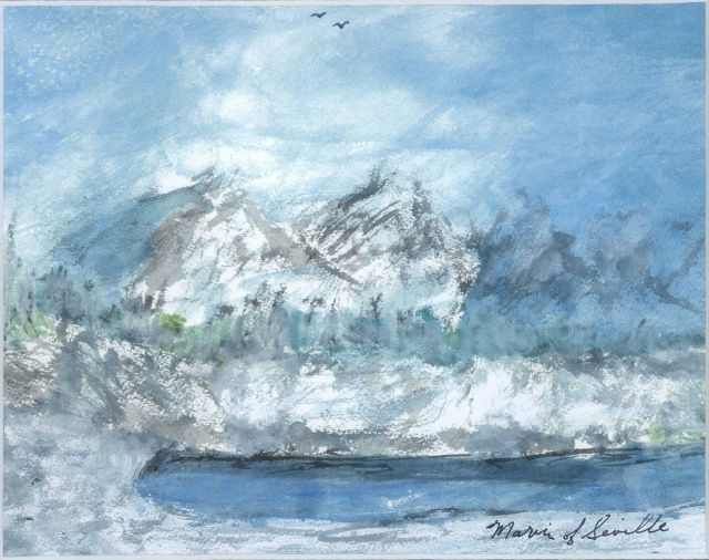 Water color painting by Captain Marvin Paulson (C&GS ret.) Picture