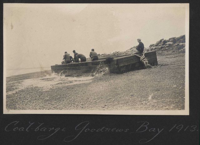 The coal barge at Goodnews Bay Picture
