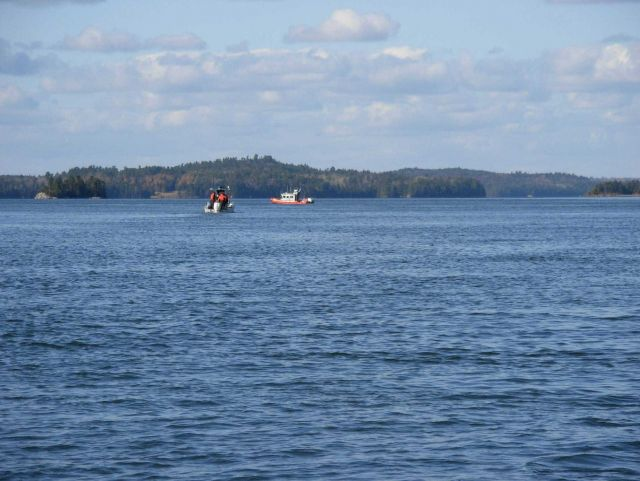 Coast Guard boats working out of Eastport, Maine, assisting navigation response surveys and monitoring marine debris Picture