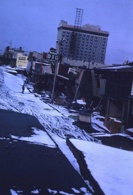 Alaska 1964 Good Friday earthquake and tsunami damage. Picture