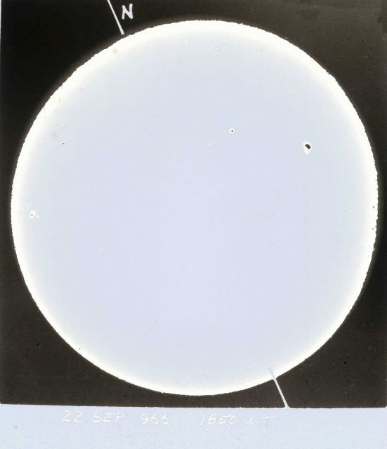 Appears to be map of sunspot activity Picture