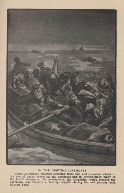 In the drifting lifeboats following the sinking of the TITANIC In: Marshall, Logan 1912 Picture