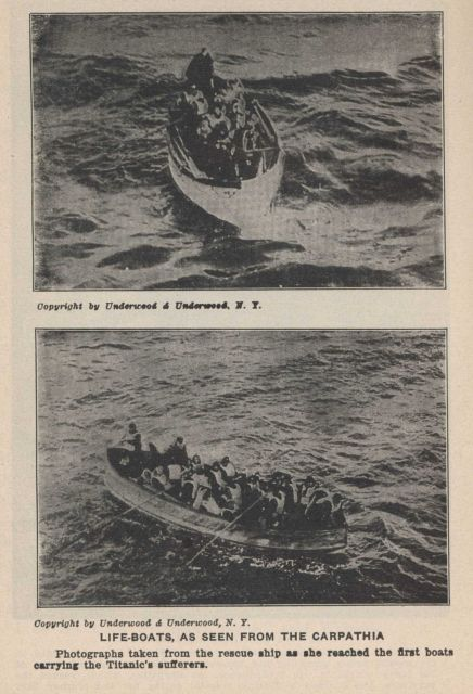 Lifeboats from the TITANIC as seen from the CARPATHIA In: Marshall, Logan 1912 Picture