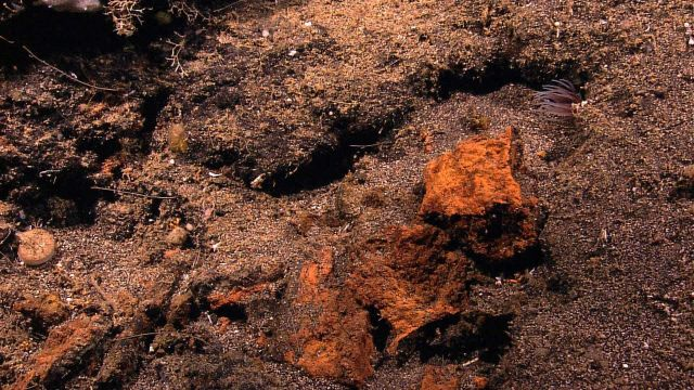 Rocks with iron oxide staining Picture