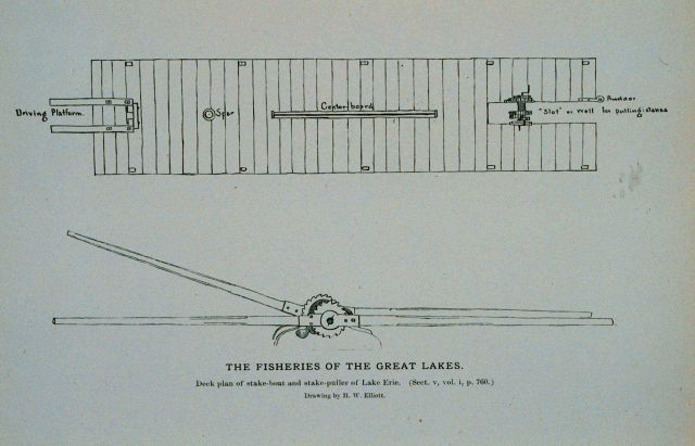 Deck plan of stake-boat Picture