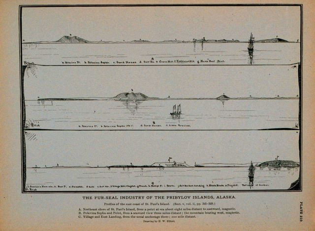Profiles of the east coast of Saint Paul's Island Drawing by H Picture