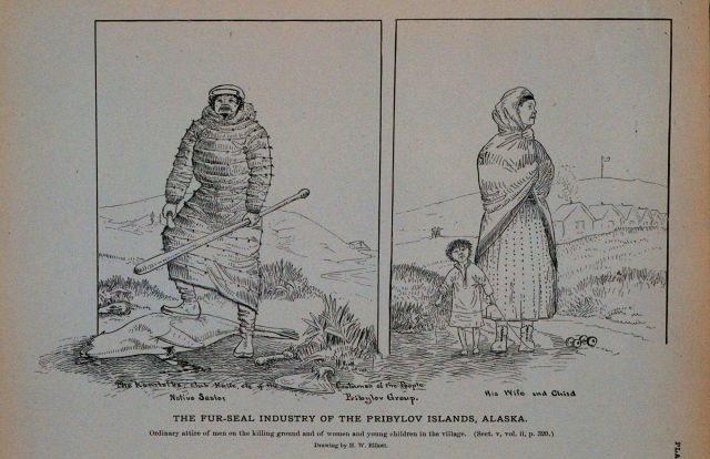 Ordinary attire of men on the killing ground And of women and young children in the village Drawing by H Picture