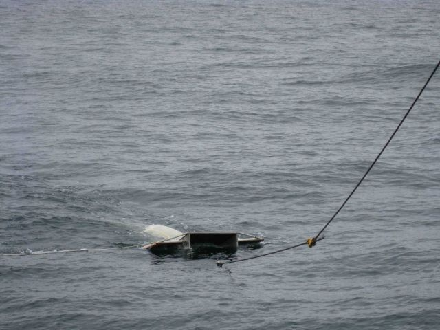 Manta net surface tow. Picture