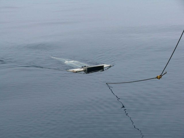 Manta net surface tow net. Picture