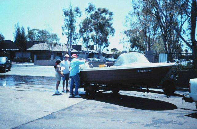 Public boat launching ramp. Picture