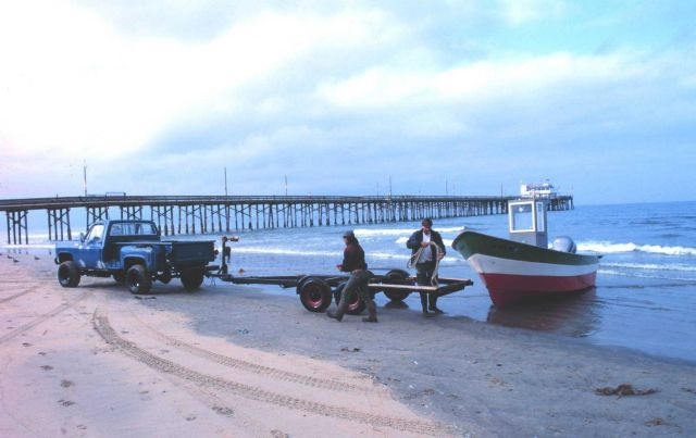 Part of the dory fishing fleet at Newport Beach Picture