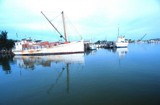 The BIG CRAB is an old Chesapeake Bay crabber. Picture