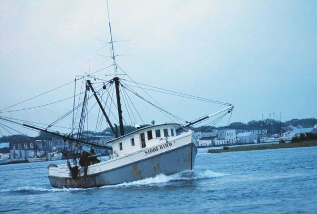 A shrimp boat in the harbor Picture