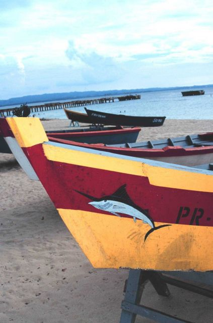 Bow art on a small open fishing vessel Picture